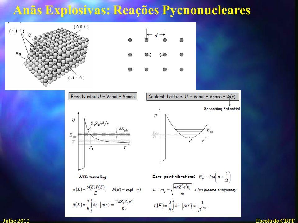 Anãs Explosivas: Reações Pycnonucleares