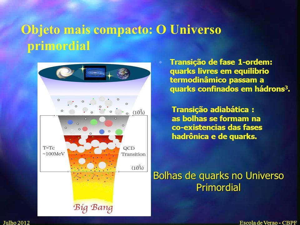Bolhas de quarks no Universo Primordial