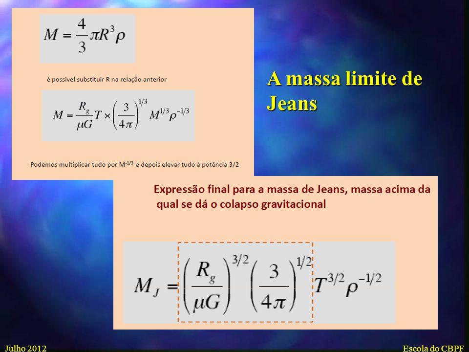 A massa limite de Jeans Julho 2012