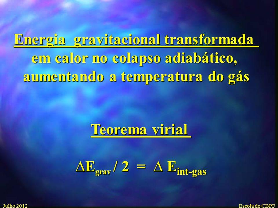 Energia gravitacional transformada em calor no colapso adiabático,