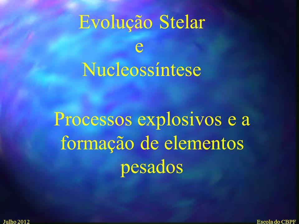 Processos explosivos e a formação de elementos pesados