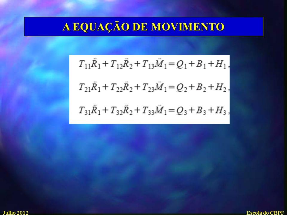 A EQUAÇÃO DE MOVIMENTO Julho 2012