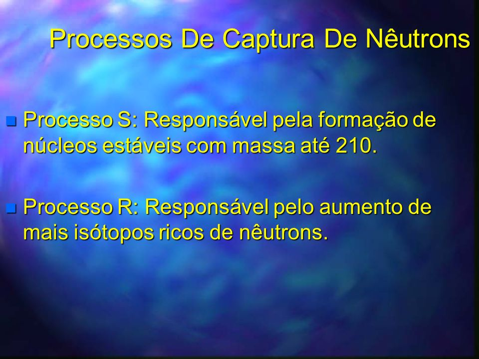 Processos De Captura De Nêutrons