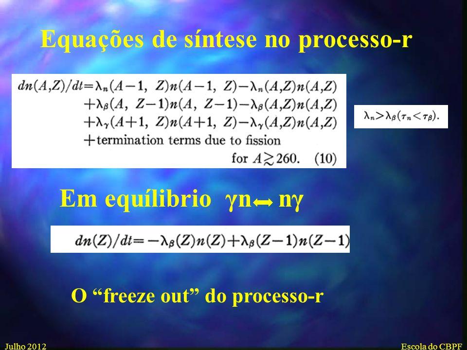 Equações de síntese no processo-r