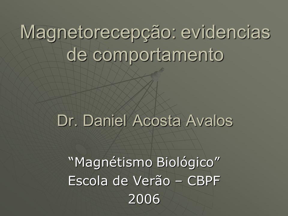 Magnetorecepção: evidencias de comportamento Dr. Daniel Acosta Avalos