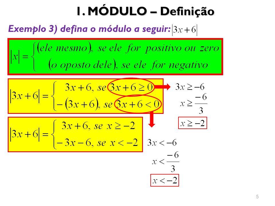 1. MÓDULO – Definição Exemplo 3) defina o módulo a seguir: