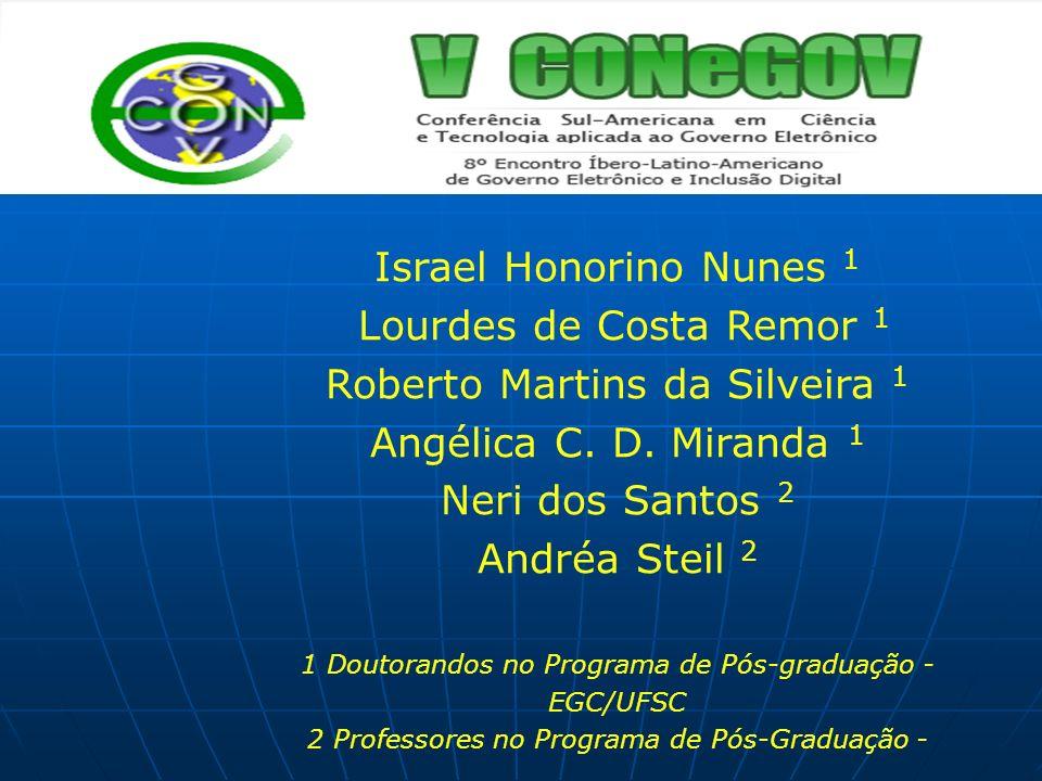 Roberto Martins da Silveira 1 Angélica C. D. Miranda 1