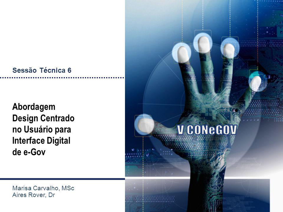 V CONeGOV Abordagem Design Centrado no Usuário para Interface Digital