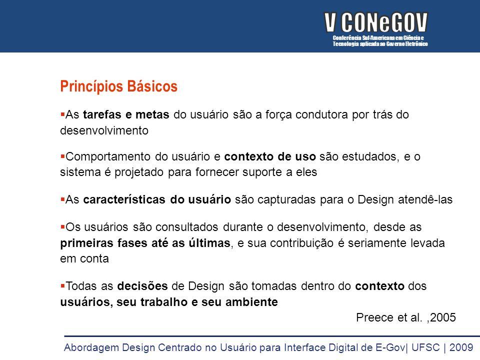 V CONeGOV V CONeGOV Princípios Básicos