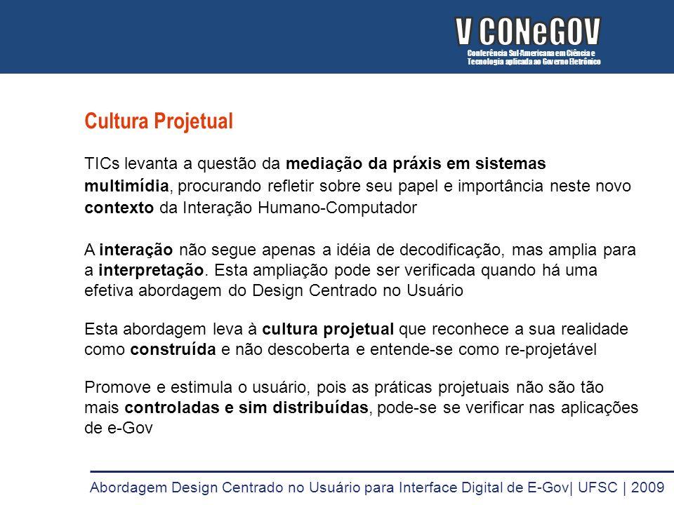 V CONeGOV V CONeGOV Cultura Projetual