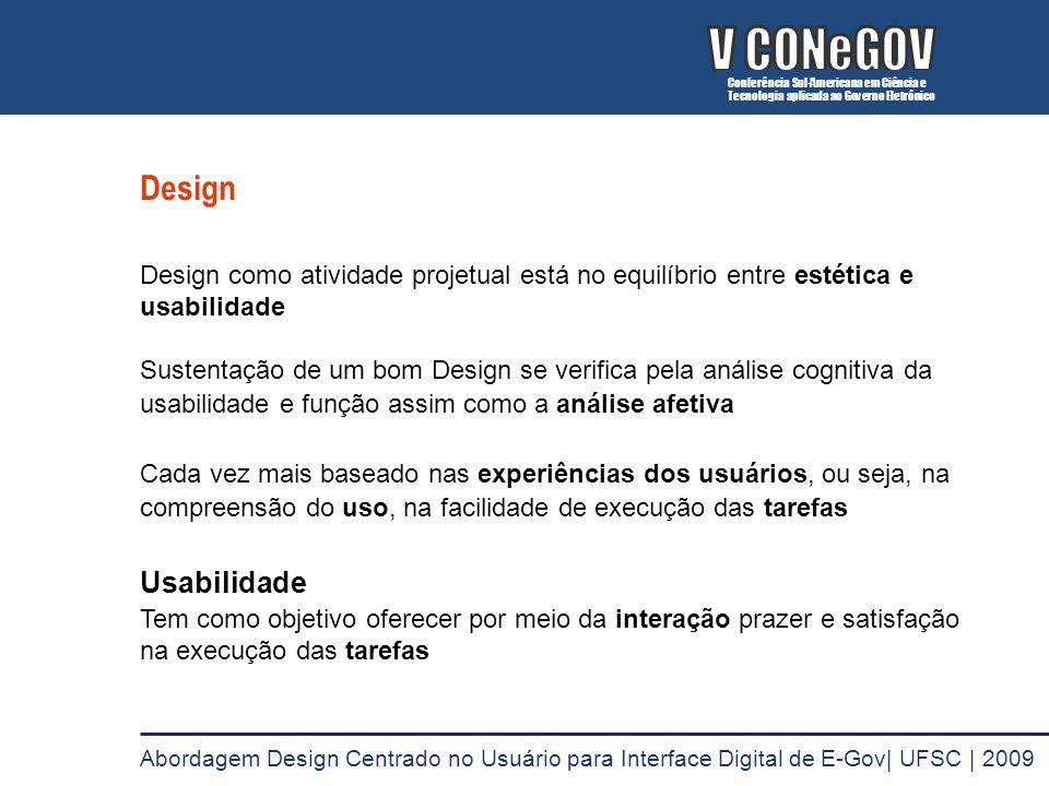 V CONeGOV V CONeGOV Design Usabilidade