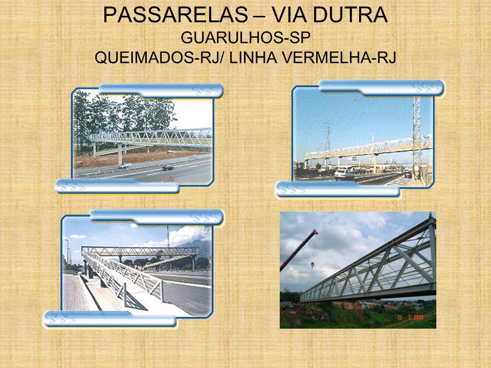 PASSARELAS – VIA DUTRA GUARULHOS-SP QUEIMADOS-RJ/ LINHA VERMELHA-RJ