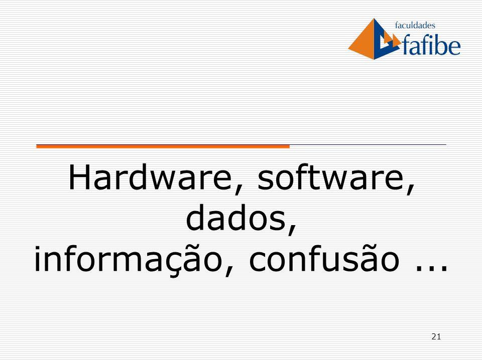 Hardware, software, dados, informação, confusão ...
