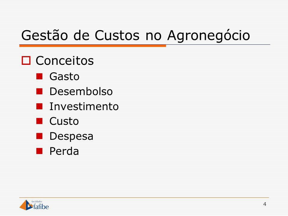 Gestão de Custos no Agronegócio