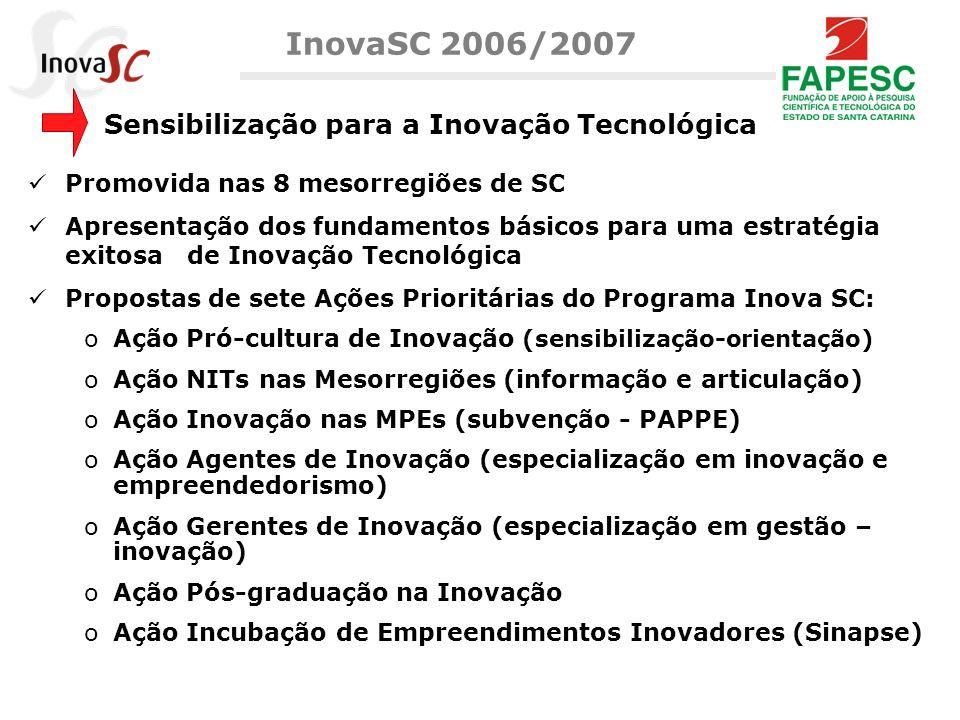 InovaSC 2006/2007 Sensibilização para a Inovação Tecnológica