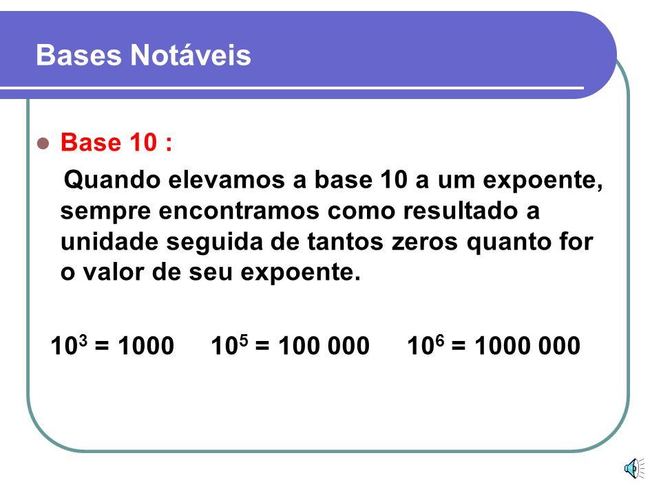 Bases Notáveis Base 10 :
