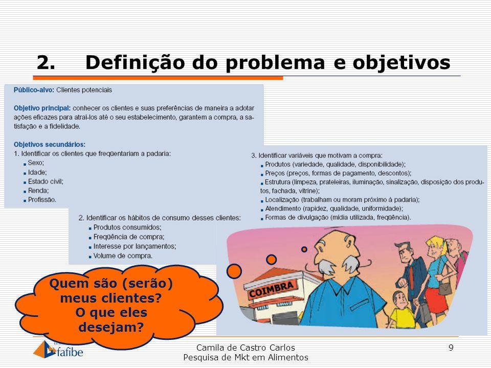 2. Definição do problema e objetivos