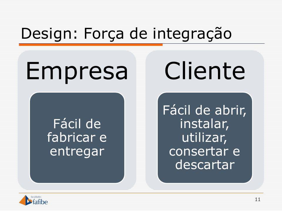 Design: Força de integração