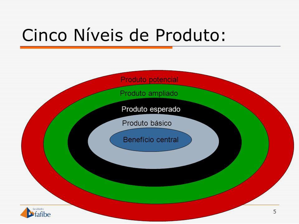 Cinco Níveis de Produto: