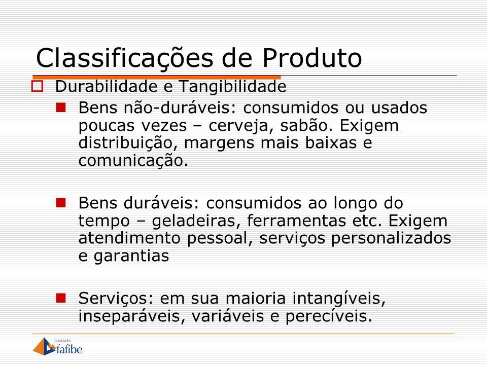 Classificações de Produto