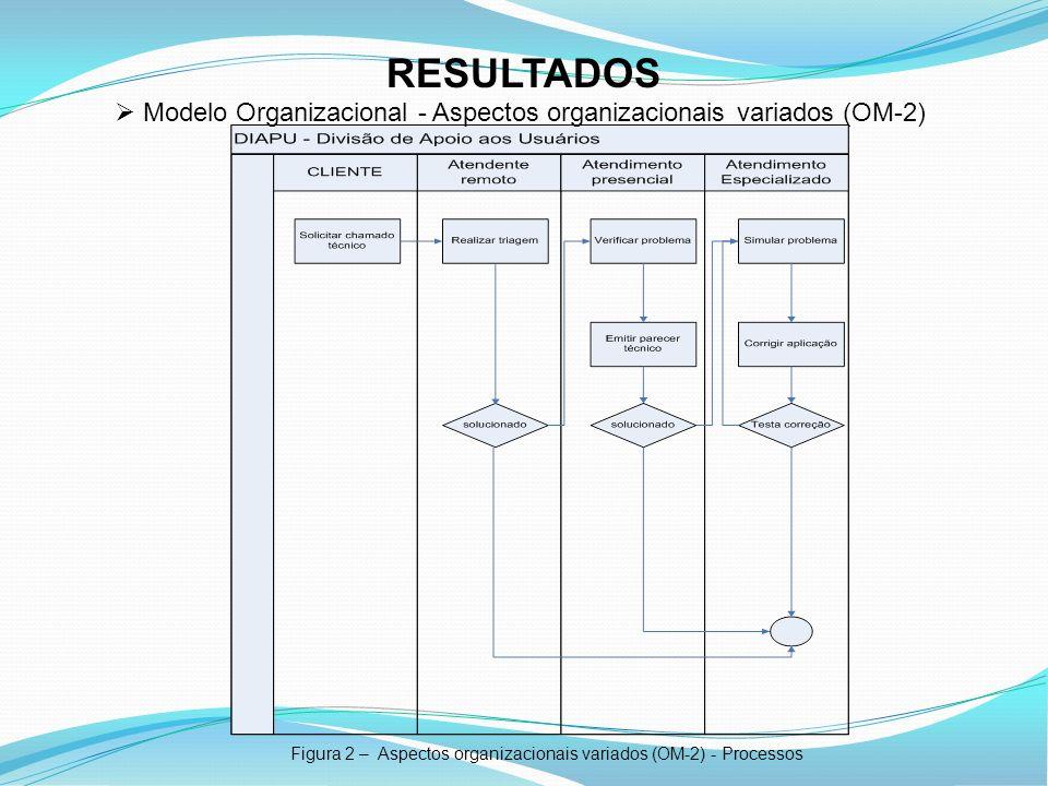 Figura 2 – Aspectos organizacionais variados (OM-2) - Processos