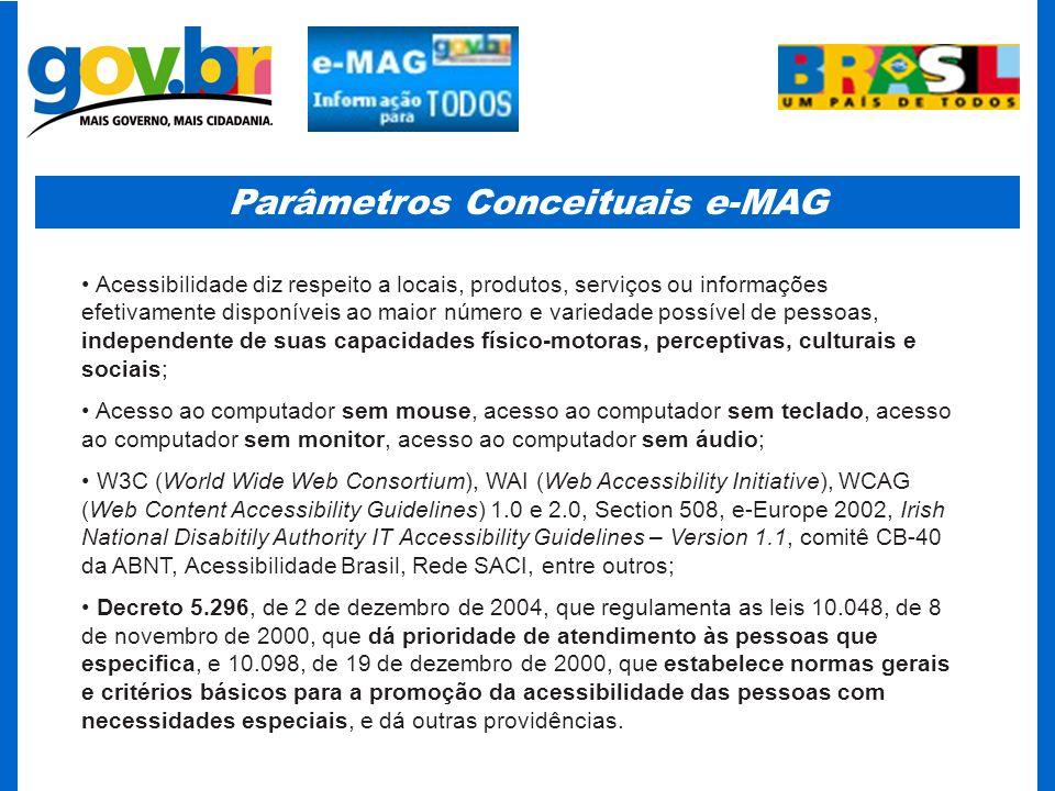 Parâmetros Conceituais e-MAG