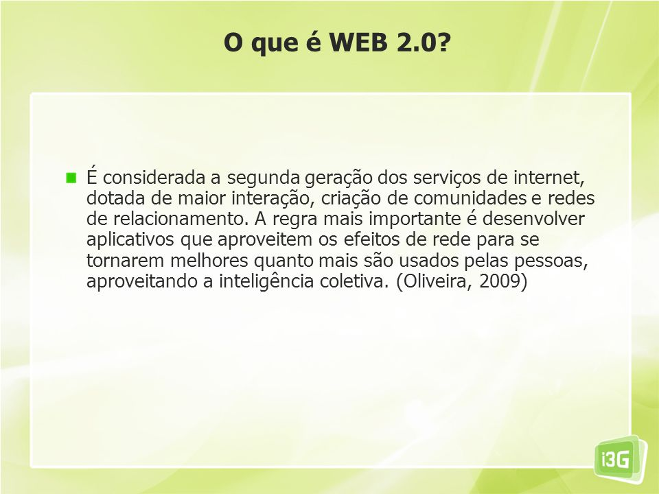 O que é WEB 2.0