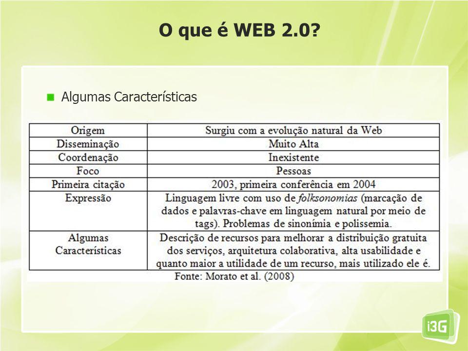 O que é WEB 2.0 Algumas Características 22