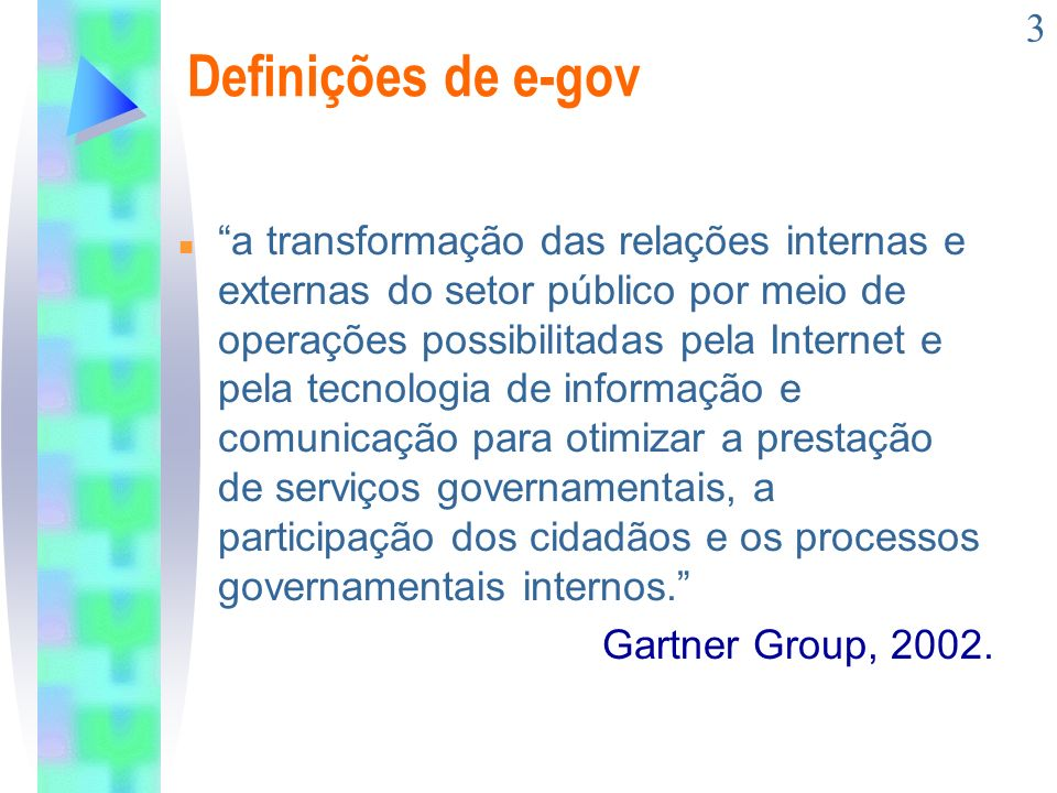 Definições de e-gov