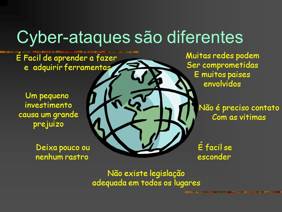 Cyber-ataques são diferentes