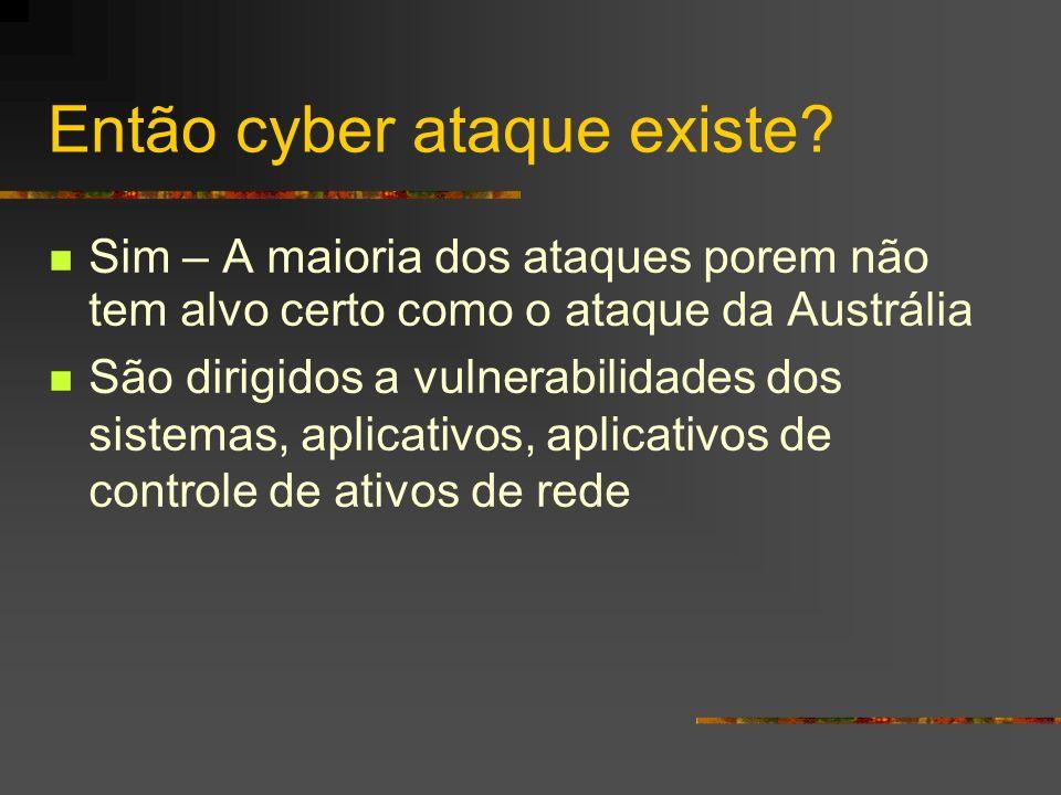 Então cyber ataque existe