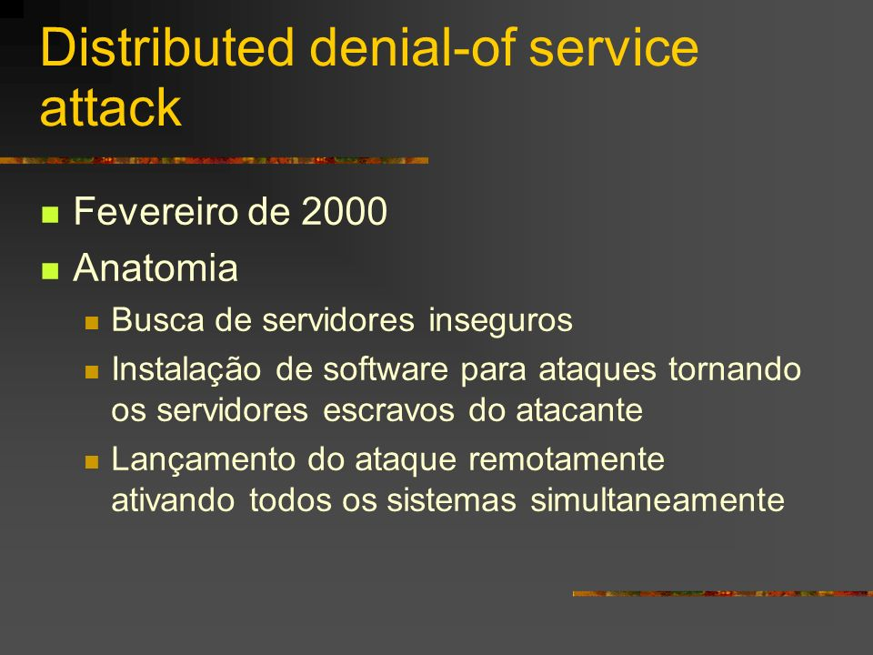 Distributed denial-of service attack