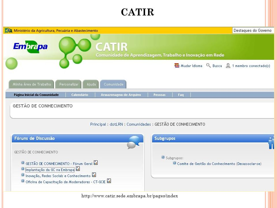 CATIR http://www.catir.sede.embrapa.br/pages/index