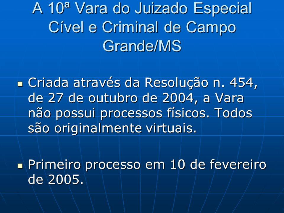 A 10ª Vara do Juizado Especial Cível e Criminal de Campo Grande/MS