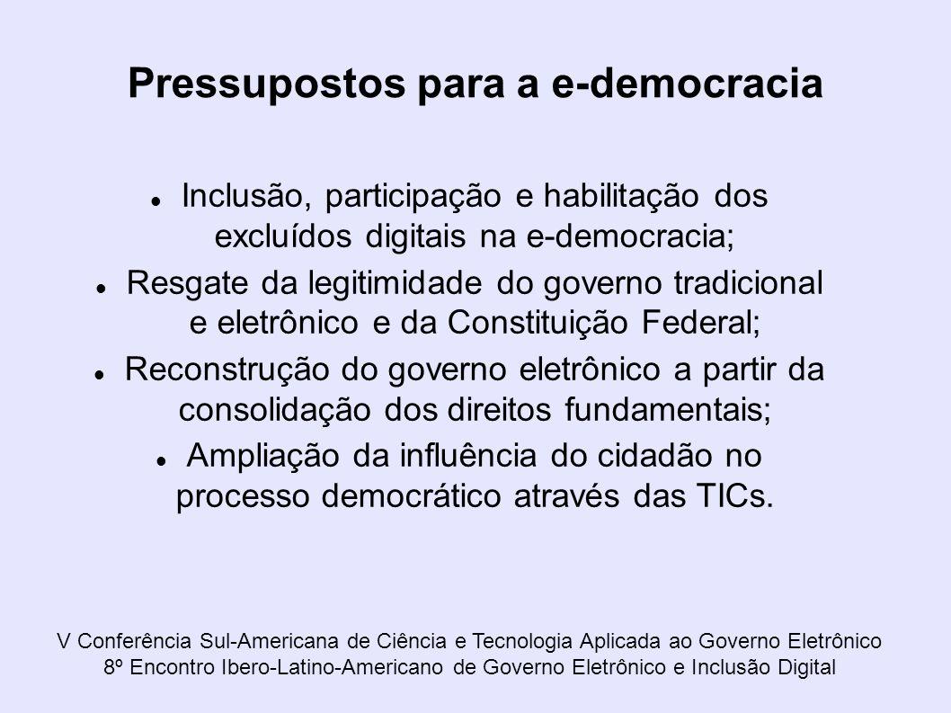 Pressupostos para a e-democracia