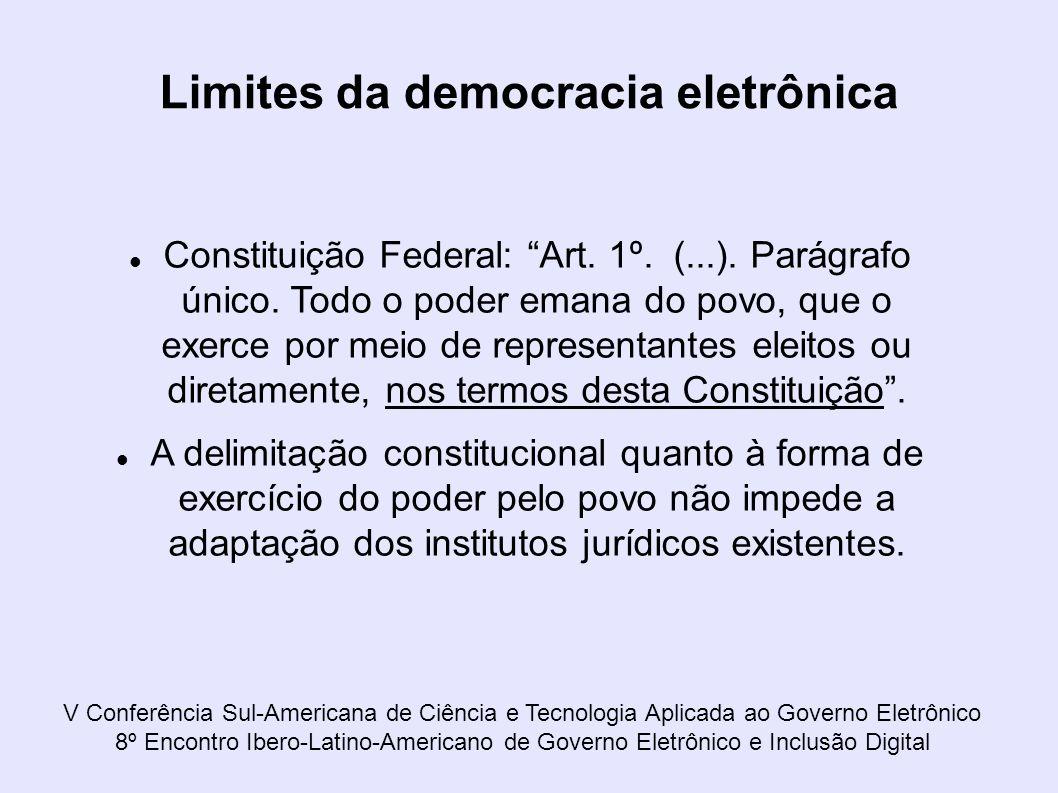 Limites da democracia eletrônica