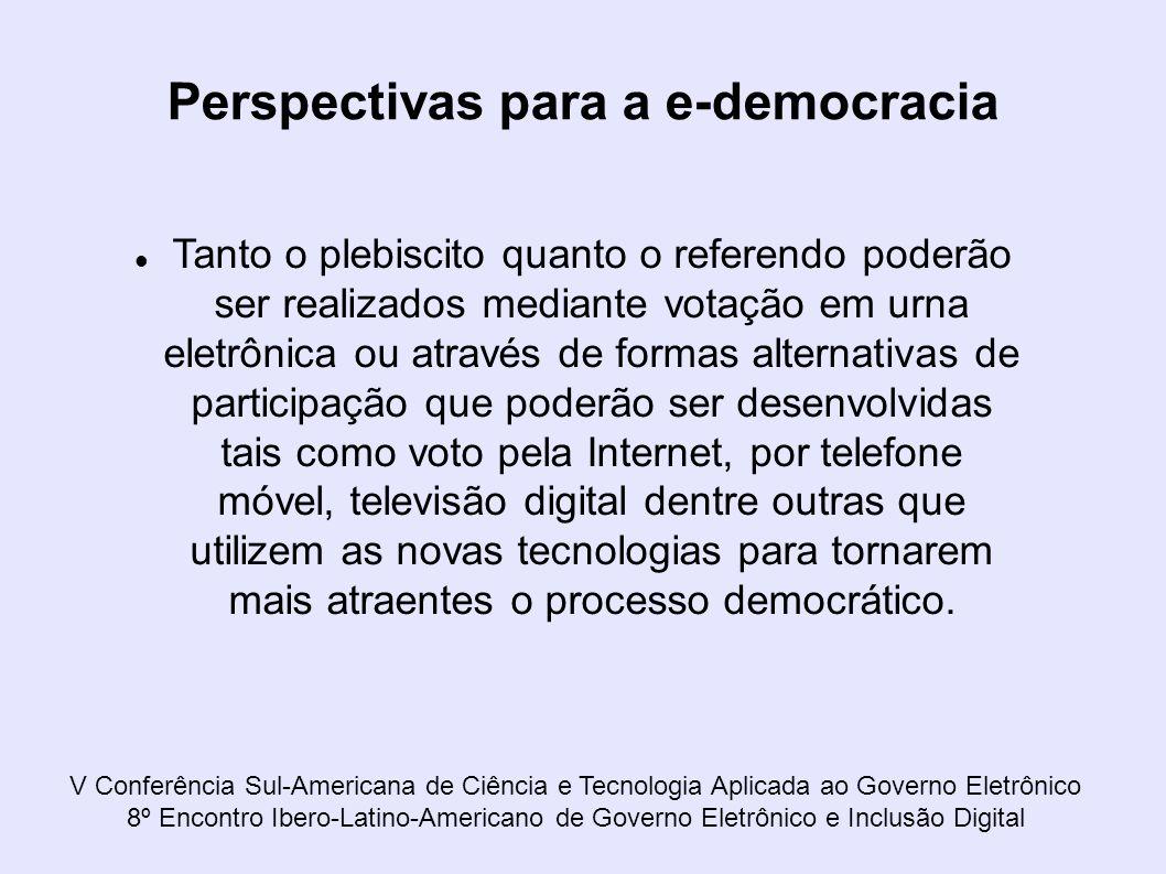 Perspectivas para a e-democracia