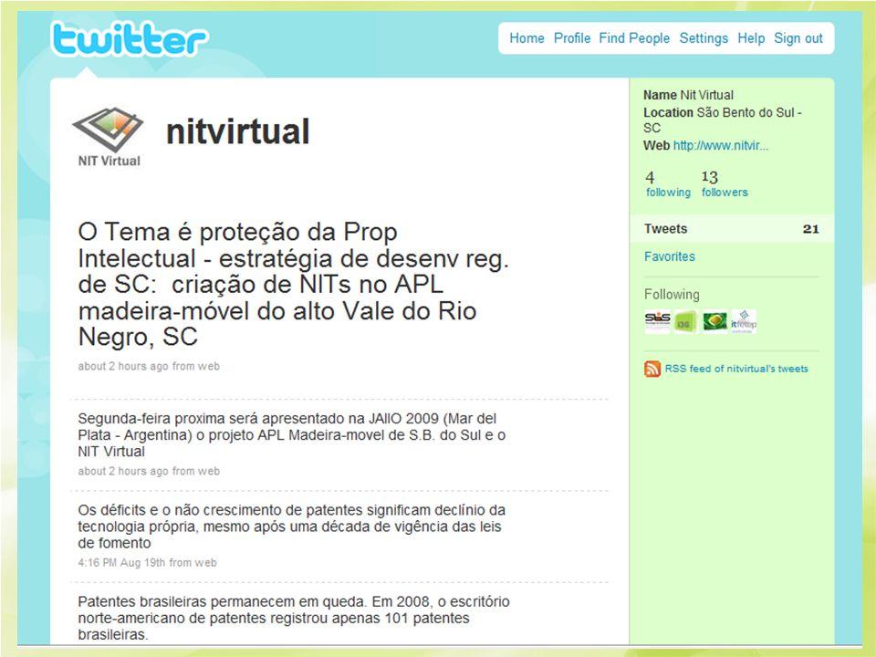 Micro-blog para a promocao e divugacao de temas relevantes a prop