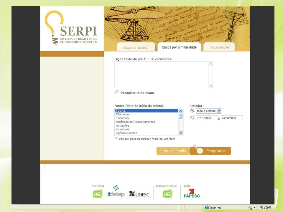 SERPI – Sistema de Registro de Prop. Intelectual