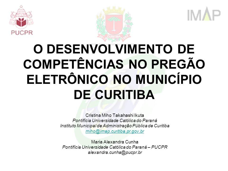 O DESENVOLVIMENTO DE COMPETÊNCIAS NO PREGÃO ELETRÔNICO NO MUNICÍPIO DE CURITIBA