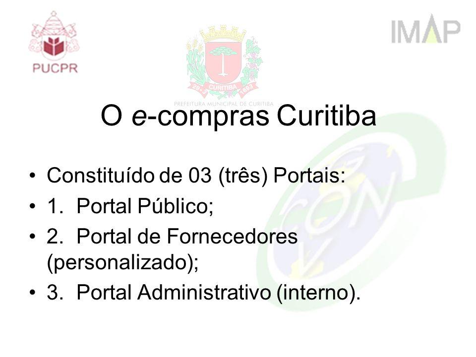 O e-compras Curitiba Constituído de 03 (três) Portais: