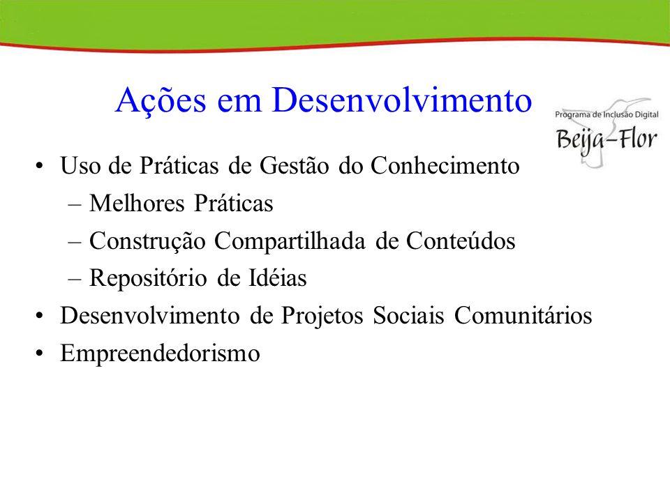 Ações em Desenvolvimento
