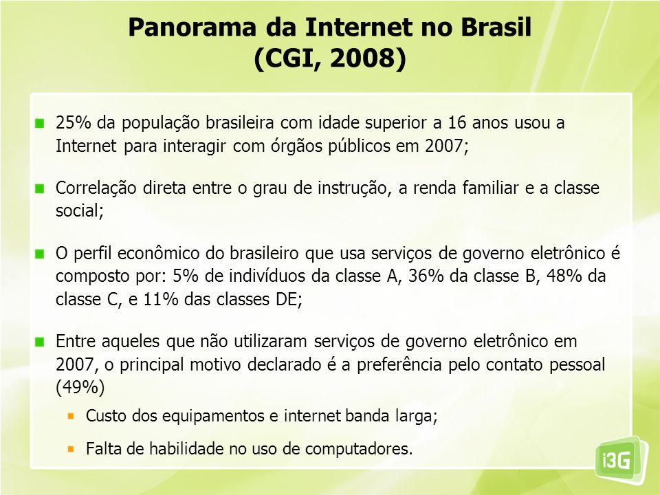 Panorama da Internet no Brasil