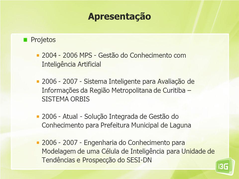Apresentação Projetos