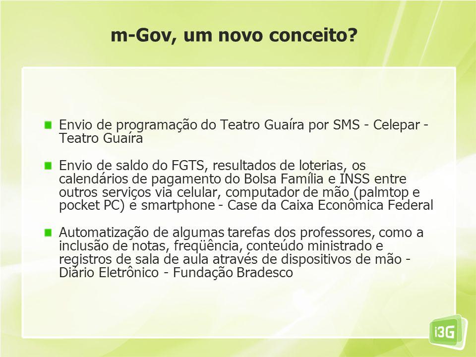 m-Gov, um novo conceito Envio de programação do Teatro Guaíra por SMS - Celepar - Teatro Guaíra.