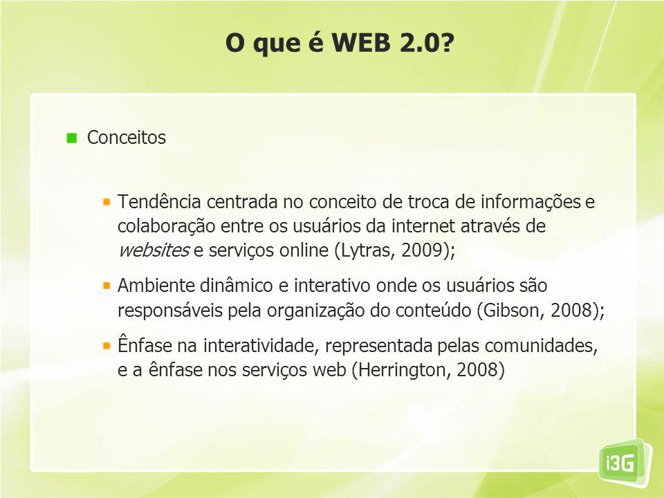 O que é WEB 2.0 Conceitos.