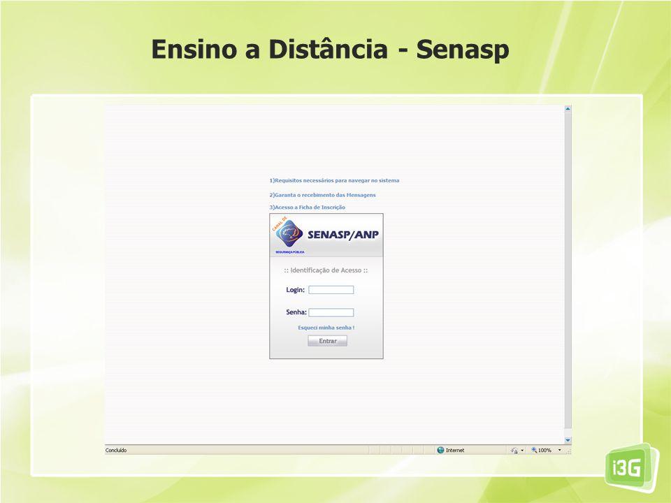 Ensino a Distância - Senasp