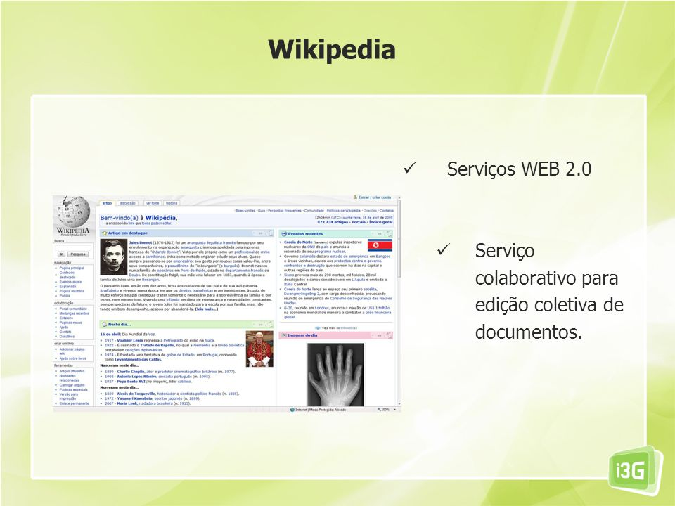 Wikipedia Serviços WEB 2.0
