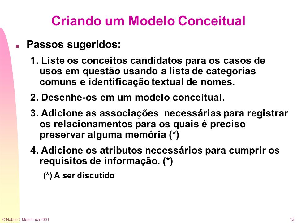 Criando um Modelo Conceitual