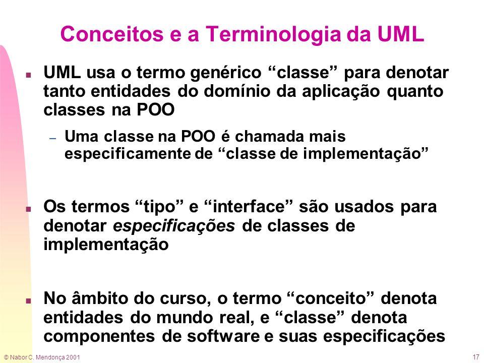 Conceitos e a Terminologia da UML